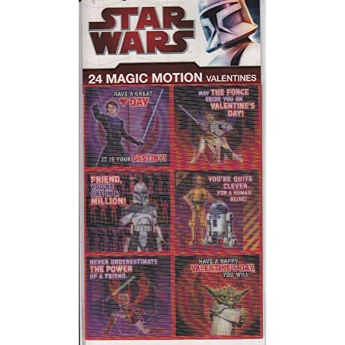 Star Wars Clone Wars Valentine's Day 4 Sheets with 6 designs Magic Motion Sales
