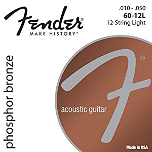 Fender 60-12L Phosphate Bronze Acoustic Guitar (12 String) 10-48