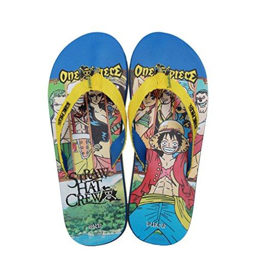 Bromeo One Piece Anime Unisex Flip Flops Chanclas 29