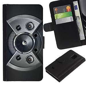 Paccase / Billetera de Cuero Caso del tirón Titular de la tarjeta Carcasa Funda para - Speaker Design - Samsung Galaxy S5 Mini, SM-G800, NOT S5 REGULAR!