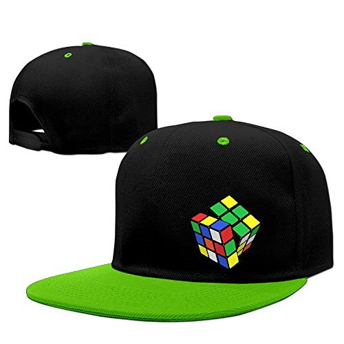 Unisex Adjustable Snapback Rubix Cube Baseball Hat KellyGreen One - Beverly Only Shop Hills In