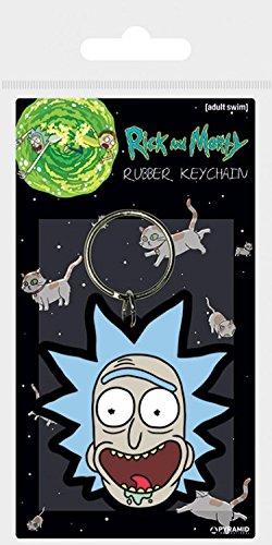 1art1® Rick Y Morty - Rick Sonrisa Loca Llavero (6 x 4cm ...
