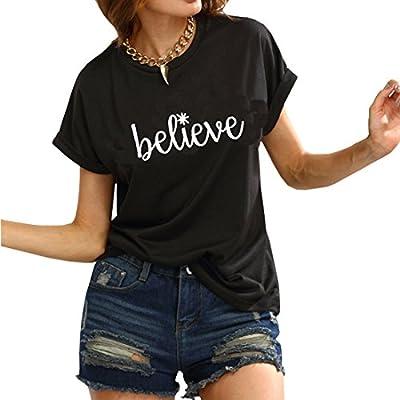 Weigou Woman T Shirt Short Sleeve Women Cute Graphic Tops Printed Funny Tee Junior Girls T Shirt