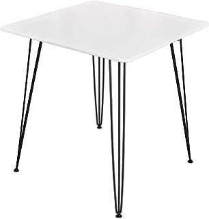 70x70x76 cm Febland Square Clear Glass Bistro Table Transparent