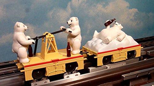 - Coca-Cola Bears Motorized Handcar & Trailer