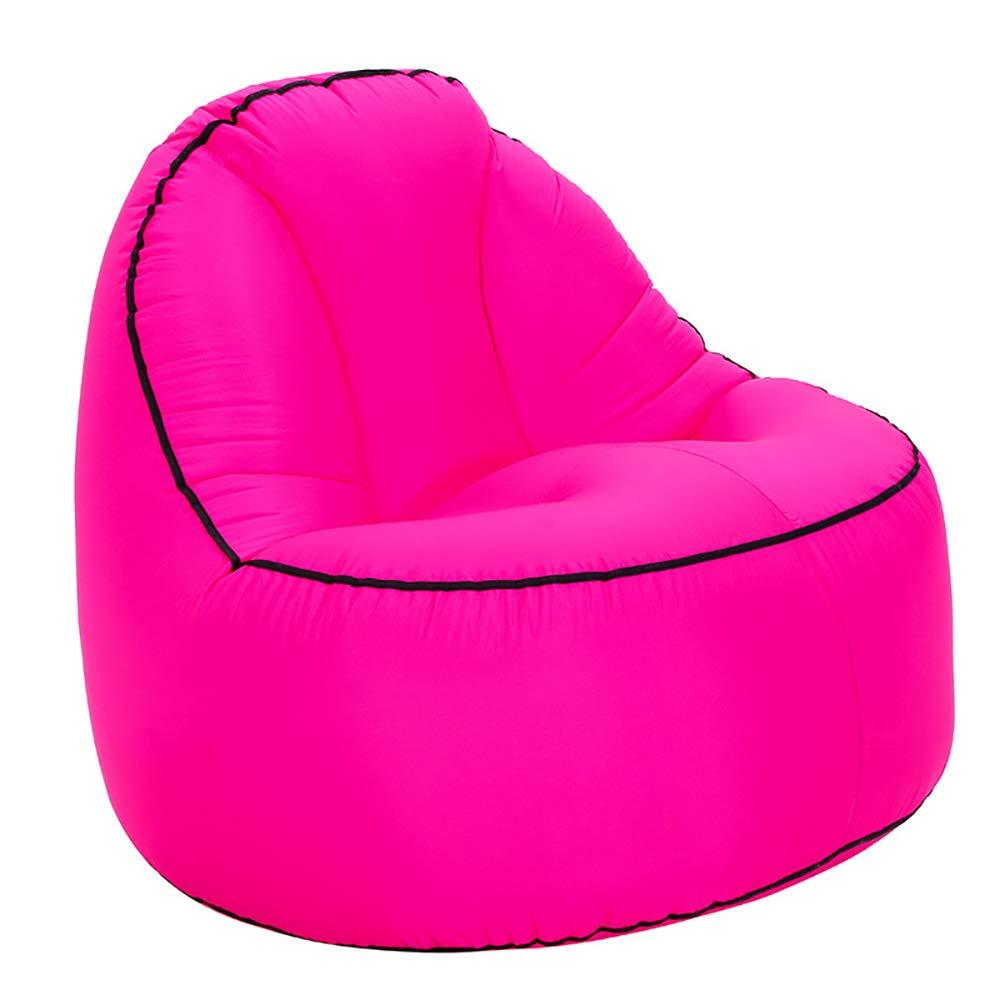 LBAFS Tragbares Aufblasbares Faules Luftbett-Liege-Couch-Stuhl-Freizeit-Sofa Für Den Hangout-kampierenden Strand Im Freien Innen,C