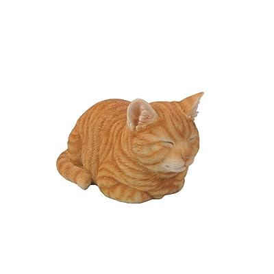Hi-Line Gift Ltd Tabby Sleeping Cat Statue, Orange: Home & Kitchen