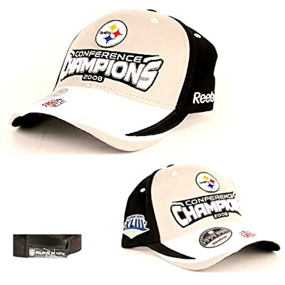 Fan Apparel Pittsburgh Steelers Conference Champions 2008 Adjustable Hat Cap Lid from Fan Apparel