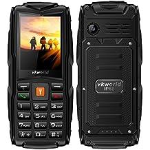 Rugged Tough Unlocked Cell Phone 3000mAh Battery Waterproof Shockproof and Dustproof Phone VKworld New Stone V3(black/gray)