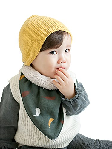 Zando Cotton Baby Girl Beanie Comfort Crochet Warm Infant Toddler Beanie Hat Soft Lined Plain Cool Kids Caps for Winter - Sports Stores Browns Plains