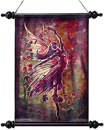 Design Toscano CL751314 Arazzo da Parete a Pergamena Angel Rose 2.5x33x45.5 cm