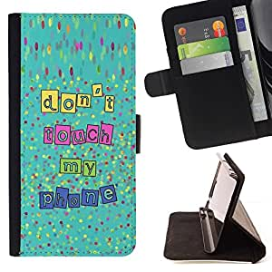 Momo Phone Case / Flip Funda de Cuero Case Cover - Touch My Phone Manos Fuera de Texto - HTC Desire 820