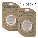 Original Cuppow Regular - Drinking Lid for Regular Mouth Canning Jar! (clear, 2 Pack)