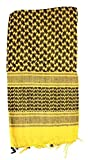 RED7020-BRK Shemagh Head Wrap Yellow/blk