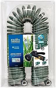 Aqua Control C2107N2 - Manguera de jardín, con Conexiones bimateria, 15 m, Pistola con 7 Formas: Amazon.es: Jardín