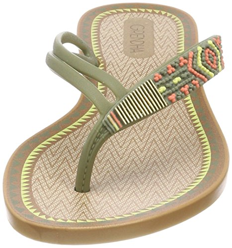 Tongs Acaí Femme Multicolore VI Fem Thong 8289 Green Grendha SIx7TFS