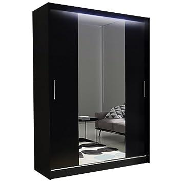 Schlafzimmerschrank Led Beleuchtung | Kleiderschrank Mit Spiegel Ava 4 M Schiebeturenschrank