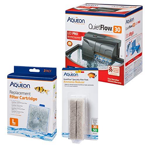 Aqueon Aquarium Filter Kit w/Media (4 Month Supply), up to 45 Gallon (45 Aquarium Fish Gallon)