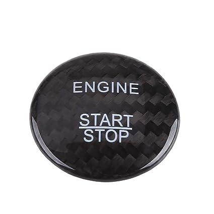 Carbon Fiber Engine Ignition Start Stop Button Trim Decor Cover  Mercedes Benz