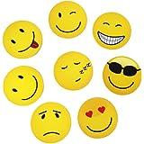 EAST WEST Trading GmbH Aimants Smiley, Emoticônes, Set de 8Pièces, aimants pour réfrigérateur Aimants drôles pour la bonne humeur
