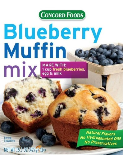 Concord BLUEBERRY Muffin Mix - 6 (SIX) 15oz Boxes