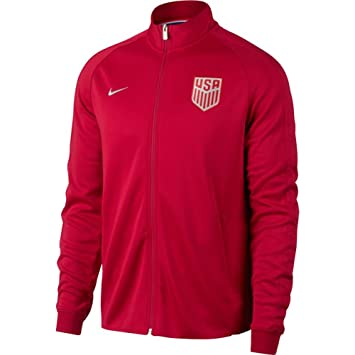 Nike Herren Nsw N98 Usa Authentic Track Fussball Jacke Rot