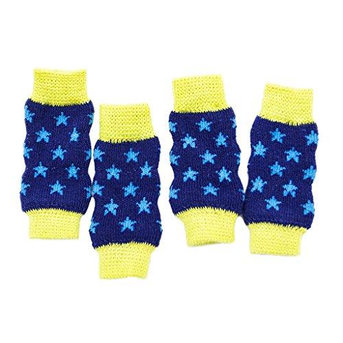 D DOLITY 4 pcs Pet Dog Cat Leg Hock Protector Star Pattern Cute Non-slip Leg Socks - (Hock Sock)