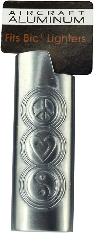 Aircraft Aluminum Flaming Skull Lightweight /& Durable Embossed Lighter Case for BIC Lighters