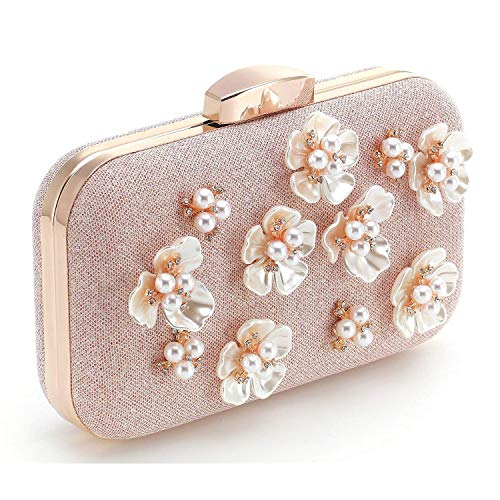 Women Clutch Superw Cross Evening Flower Bag Pearl Pearl Handbags Bags Black Bag Purse Clutches Sequins Bag Body 0qTCdq