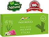 Patchouli-Fragrance-Incense-Sticks 100%-Natural Handmade-Hand-Dipped The-best-scent (100 Incense Sticks)
