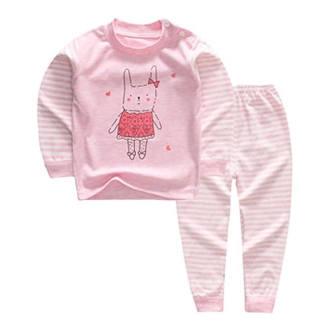 11e54f579c Pigiama neonato neonato, felpa di cotone Juleya addensare intimo invernale  caldo di Longjohns per bambini 0-4 anni: Amazon.it: Abbigliamento