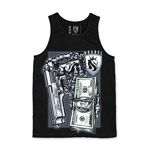OGABEL Men's Plomo Tank Large Black (Og Revolver)