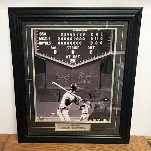California Angels Nolan Ryan Amos Otis 1st NO Hitter Signed Autograph 16x20 Custom Framed (Ryan Framed Photo)