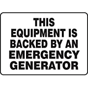 THIS EQUIPMENT IS BACKED BY AN EMERGENCY GENERATOR