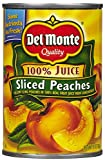Del Monte Peaches Sliced Yellow Cling 100% Juice - 15 oz