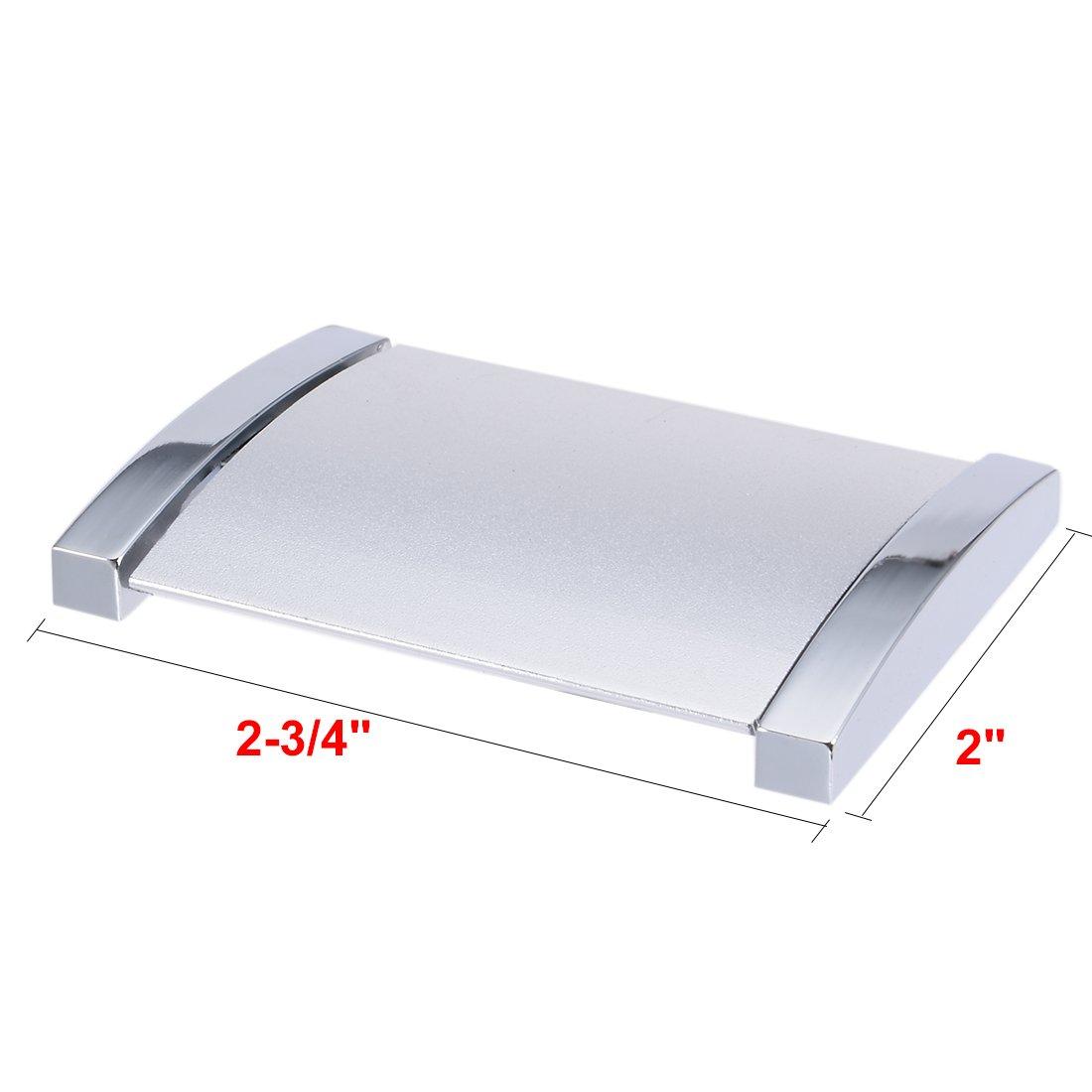 sourcingmap/® 2 Stk 4-Zoll x 2-Zoll Vertieft Schiebet/ür Griff Abdeckung Flach Ziehen Silver DE de