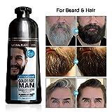 MOKERU Professional Men's Mustache & Beard Black