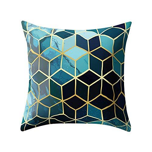 VJGOAL Hexagonal de Nido de Abeja de impresión Suave Cojín Cómodo Funda de Almohada Cuadrada Decoración del Hogar(45_x_45_cm,Negro3)