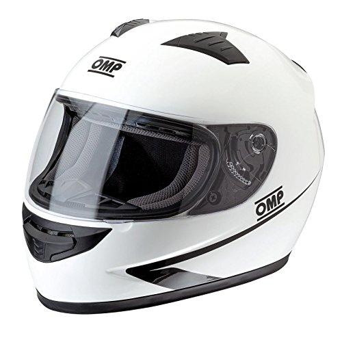 White OMP ompsc611e020/X XL Circuit Helmet Size XXL