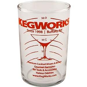 KegWorks Glass Cocktail Measuring Beaker, Clear