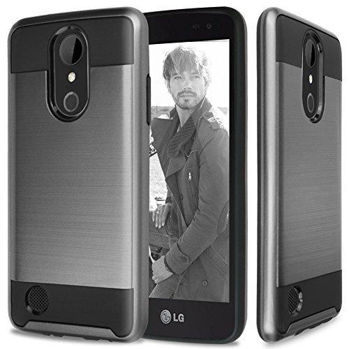 LG Aristo Case, LG Fortune Case, LG Phoenix 3 Case, LG Risio 2 Case, LG K4 Case, LG Rebel 2 LTE Case, TJS Hybrid Shockproof Impact Resist Case Cover Metallic - Access Lte Case Metallic Lg
