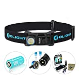 Olight® H1R Nova Rechargeable LED Headlamp 600 Lumens with CREE XM-L2 LED with 1 x 3.7V 650mAh RCR123A Multi-Function Waterproof Handheld Flashlight (Neutral White LED) Outdoor Gears