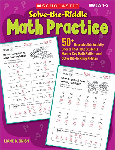Solve-the-Riddle Math Practice: Grades 1-2