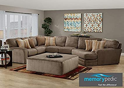 Awe Inspiring Amazon Com The Roomplace Evelyn Gray 3 Pc Sectional With Theyellowbook Wood Chair Design Ideas Theyellowbookinfo