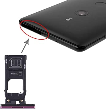 Amazon Com Wangl Sony Spare Sim Card Tray Micro Sd Card Tray For Sony Xperia Xz3 Black Sony Spare Color Purple Electronics