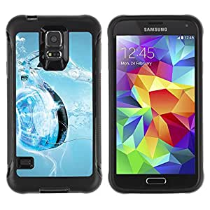 Pulsar Defender Series Tpu silicona Carcasa Funda Case para SAMSUNG Galaxy S5 V / i9600 / SM-G900F / SM-G900M / SM-G900A / SM-G900T / SM-G900W8 , Music Water Heart