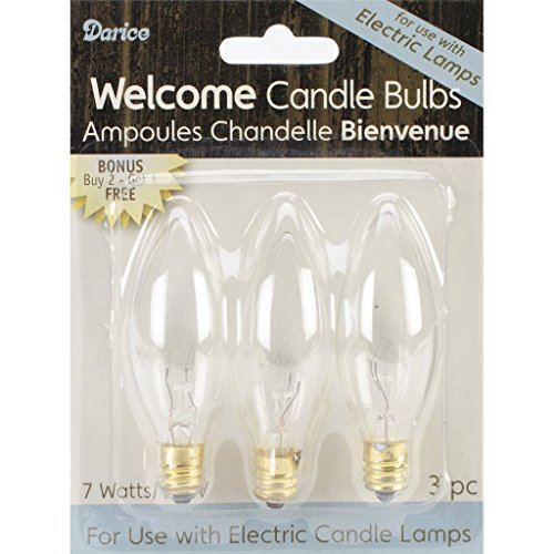 Electric Candle Bulb 7 Watt 6 Count (2, pack of 3 ) (Electric Candle Light Bulbs)