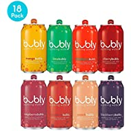bubly Sparkling Water, 8 Flavor Berry Bliss Variety Pack, 12 fl oz. cans (18 Pack)