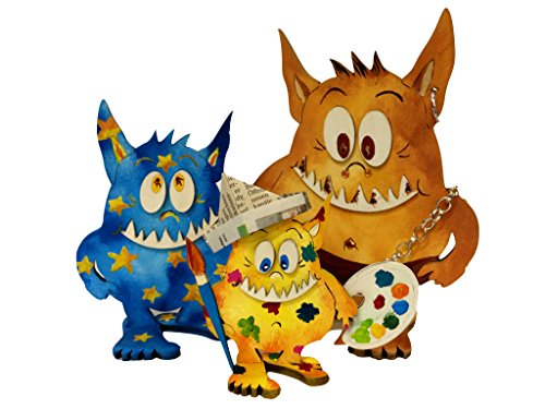 A-MNH79F3 Petra's Craft kit, Three Headed Monster Puppet Family -