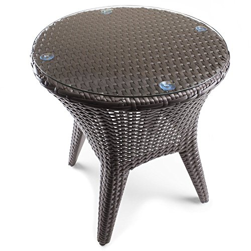 Wicker Tempered Tabletop Sol Coastal